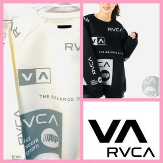 レディース RVCA ルーカ ゆったり ビックシルエットホワイト...