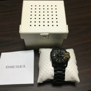 diesel 腕時計 黒金 電池切れ