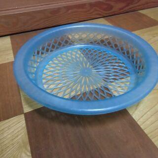 ●無料● プラスチック製 丸型 バスケット ブルー(小物入…