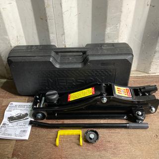 1221-2 美品 エマーソン 2tフロアジャッキ  黒 ケース付き