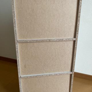 3段カラーボックス - 家電
