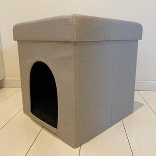 【ネット決済】ペットハウス 収納スツール ベージュ 犬 猫