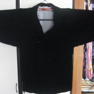 温かい襟付き黒べロアコート
