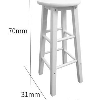 木製スツール ホワイトH70cm