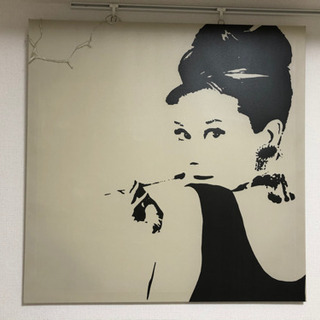 壁掛け、オードリーヘップバーン、絵、インテリア