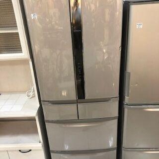 6ヶ月動作保証付 HITACHI 6ドア冷蔵庫 441L 201...