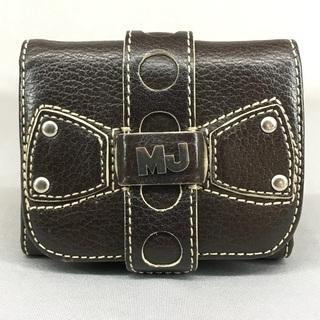 マークジェイコブスダークブラウンレザー3つ折財布