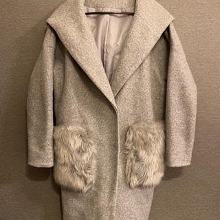 GRL グレイル ファーポケットコート Fサイズ