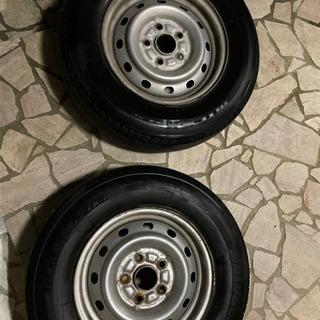 175/80R14 タイヤ おまけホイール 2本
