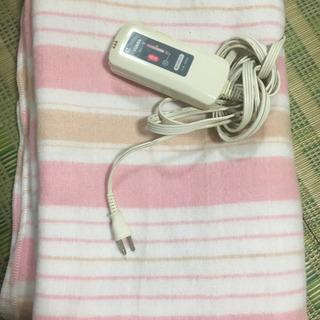 ユアサ 洗える電気毛布 ピンク