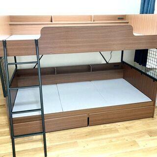 札幌近郊送料無料 定価6万円以上 ニトリ 2段ベッド デニ…