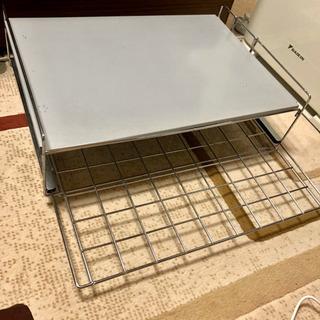 電子レンジの上なのに収納するようのスライド式収納