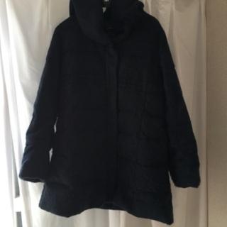 ふわふわダウンコート(黒),Lサイズ