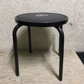 2個セット スツール 椅子 チェア 円形 直径47cm×高…