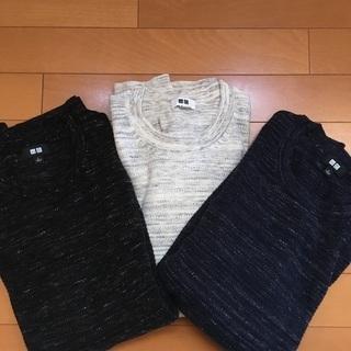 UNIQLO コットンスラブクルーネックセーター