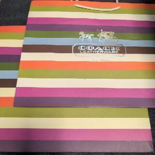 COACH(コーチ)紙袋2枚組