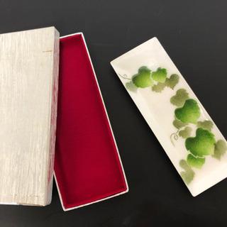 七宝焼 長皿 tutanka ツカンカ 綺麗な葉っぱ柄