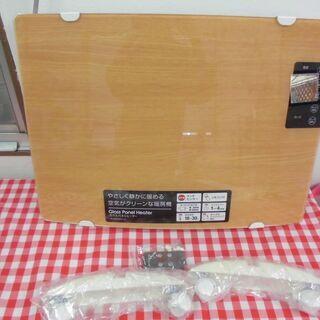 ★【未使用に近い】おしゃれな木目調 ガラスパネルヒーター★