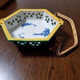 清水焼 菓子鉢 鉢 松本石亭作 ビンテージ