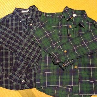 チェックシャツ 2枚 140cm