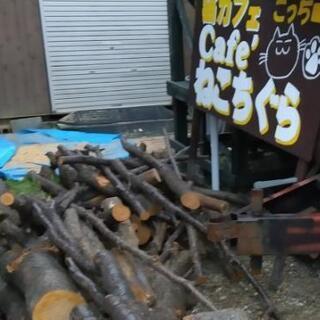 薪の原木!DIY 薪割り用!広葉樹ミックス!4tダンプカー一杯、...