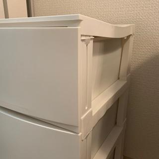 収納ケース 3段 チェスト 衣装ケース - 家具