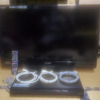 32インチ液晶テレビ&ブルーレイレコーダーセット!動作良好品!