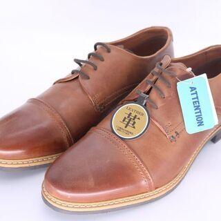 【しまむら購入】メンズ ビジネスシューズ 革靴 ブラウン 本革