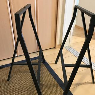 IKEA テーブル デスク 脚 架台 グレー - 売ります・あげます