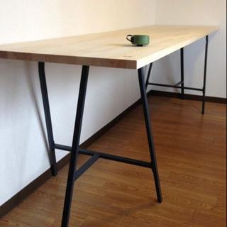 IKEA テーブル デスク 脚 架台 グレー − 大阪府