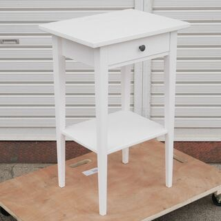 IKEA(イケア) ベッドサイドテーブル「HEMNES」ホワイト...