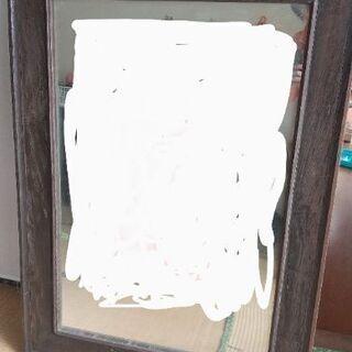 【ネット決済】戦前の木枠の鏡 アンティークミラー 津山市立中央幼...