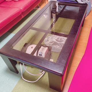 【ネット決済】ガラスローテーブル