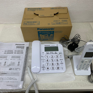 パナソニック コードレス電話機 VE-GD26DL-W(現行機種...