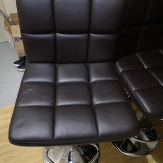 カウンターチェア 人気のブラウン4脚セット - 家具