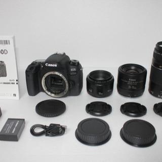 ●キャノンCanon EOS 9000D 標準&望遠&単焦点トリ...