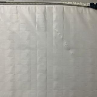 (中古)ダブルベッド マットレス ホワイト+ベット