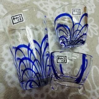 手作りガラス食器セット