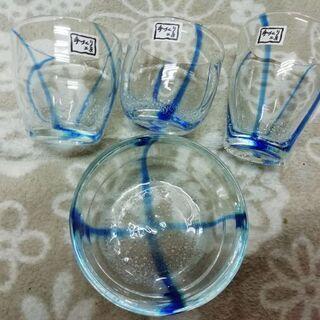 手作りガラス食器4つセット