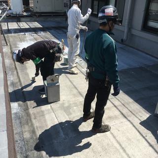 防水工事の一生物の手に職が付きます!塩ビシート防水、防水金物工事...