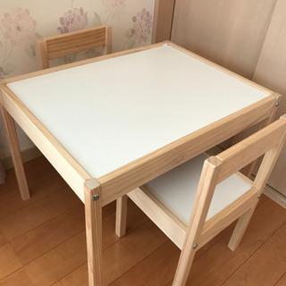【組立済】※値下げ IKEA LÄTT レット キッズテーブル ...