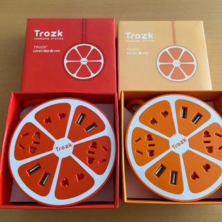 Trozk USB充電器 オレンジ ラッキーレッド