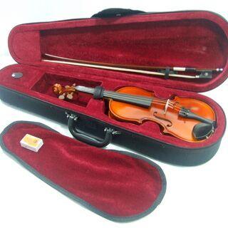 メンテ済み チェコ製 分数 1/8 バイオリン Antonius Stradivarius.1713 モデル 未使用 弓 アジャスター内蔵テールピース 希少サイズ 全国発送対応 中古バイオリン 愛知県清須市より 管理(カ)2434 - 売ります・あげます