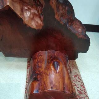 天然木 木の置物 工芸品 インテリア - 家具