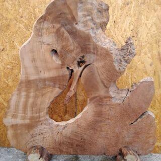 天然木 置物 インテリア 工芸品 現状品のみの画像