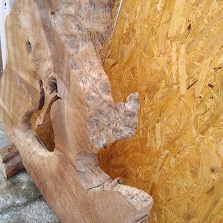 天然木 置物 インテリア 工芸品 現状品のみ - 家具