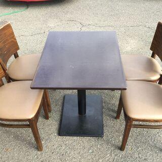 【机 椅子 5点セット】テーブル席 チェア ダイニング リ…