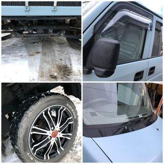 ご成約です★車検長い★4インチリフトアップ 車検R4年1月 DA64V 4WD 5MT 全塗装 エブリィ マッドタイヤ オフロード 4インチアップ - 中古車