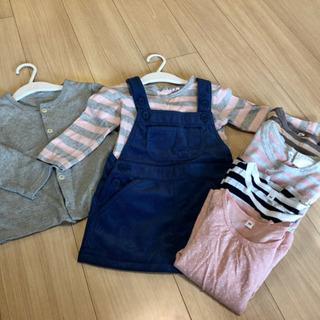 ★お値下げ★子供服90サイズ無印まとめ売り7点ジャンパースカート...