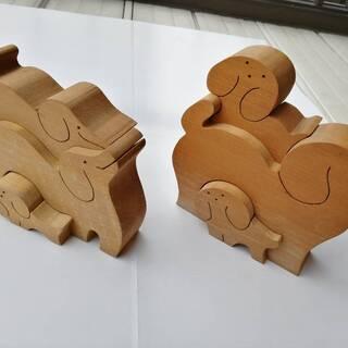 木製 ハンドメイド 知育玩具 オブジェ パズル